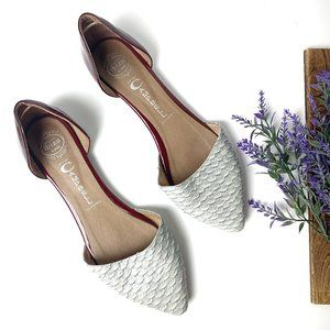 Jeffery Campbell D'orsay Snake Skin Pointed Flats